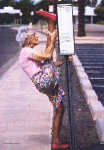 old lady flexible