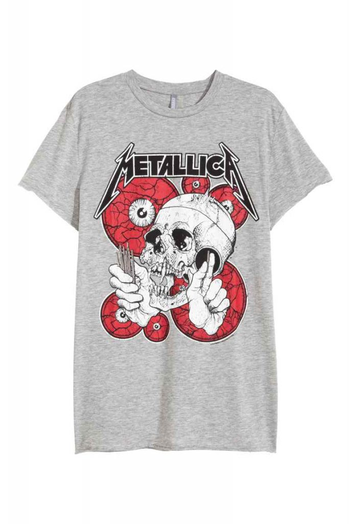 t shirt h&m metallica